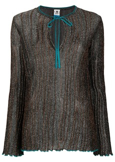 M Missoni glitter knit top