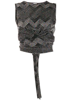 M Missoni glitter knit wrap top