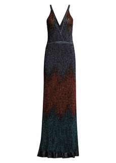 M Missoni Glitter Ombré Lurex Knit Maxi Dress