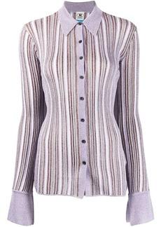 M Missoni glittery striped knitted shirt