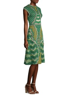 M Missoni Graphic Jacquard A-Line Dress