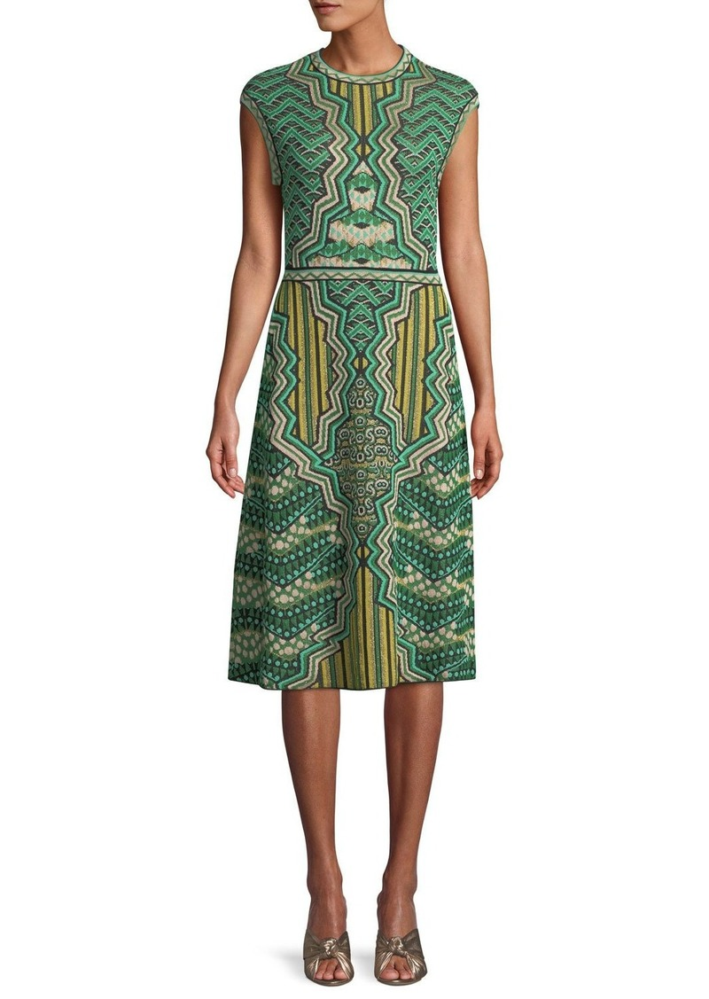 0b2688ac9c On Sale today! M Missoni Graphic Jacquard Cap-Sleeve Midi Dress