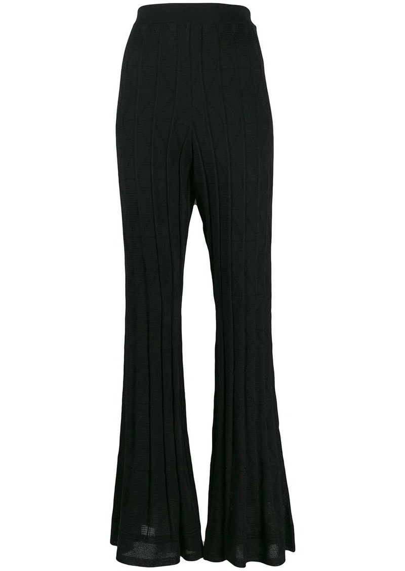M Missoni high-rise flared trousers
