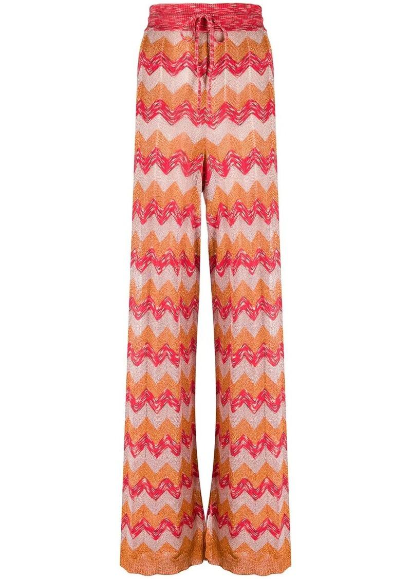 M Missoni high rise knit trousers