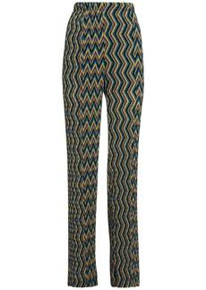 M Missoni High Waist Flared Pants W/ Pleats