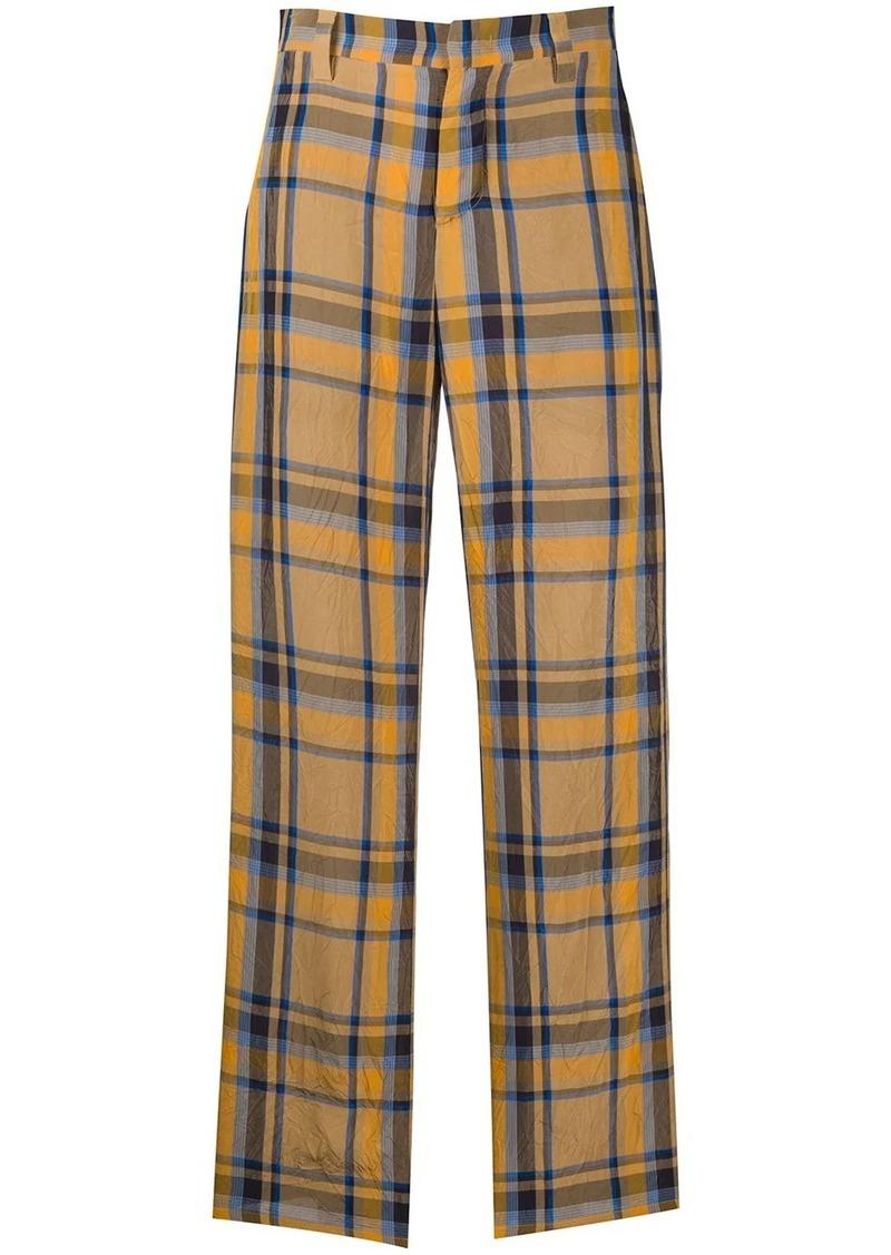 M Missoni high-waisted tartan trousers