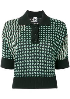 M Missoni jacquard knit geometric top