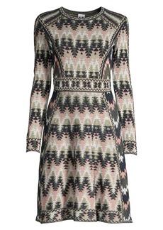 M Missoni Jacquard Long-Sleeve Dress