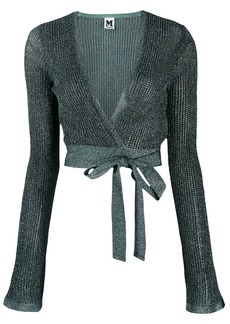 M Missoni knit wrap top