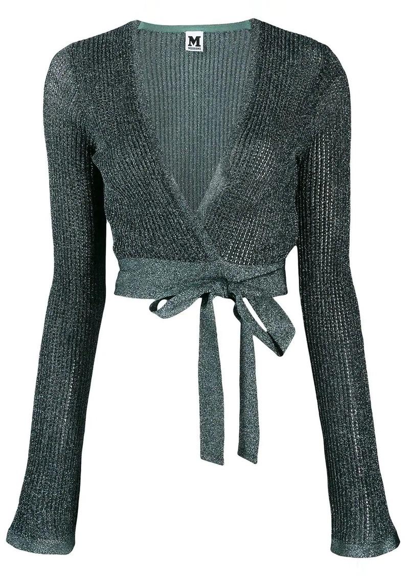M Missoni knit wrap top