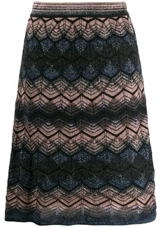 M Missoni knitted mini skirt