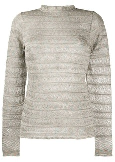 M Missoni knitted ribbed top