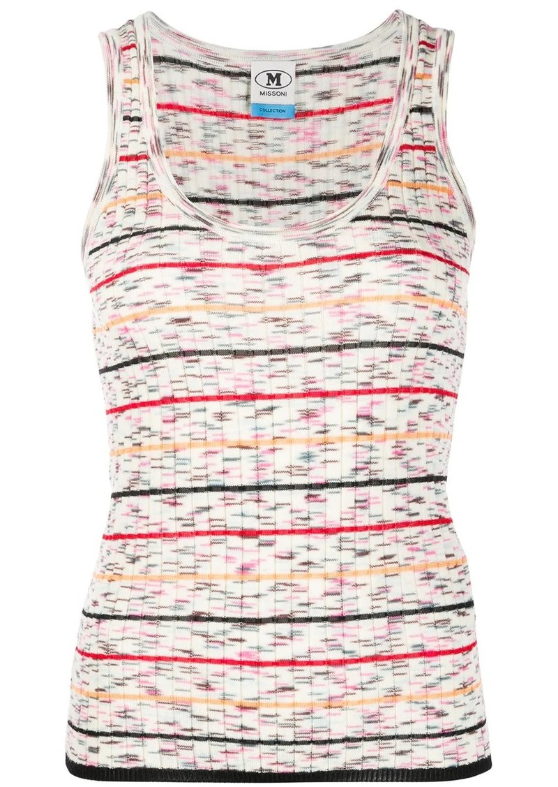 M Missoni knitted striped pattern vest