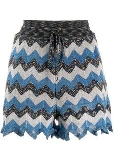 M Missoni knitted striped shorts
