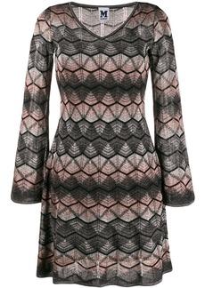 M Missoni lamé knitted midi dress