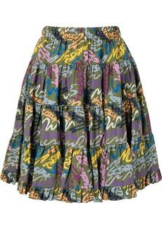 M Missoni logo-print pleated mini skirt