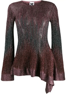 M Missoni long-sleeve embroidered top