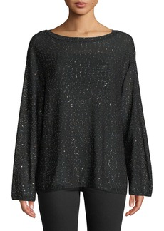 M Missoni Long-Sleeve Tunic With Mini Sequins