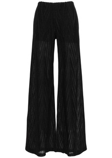 M Missoni Lurex Cotton Blend Knit Wide Leg Pants