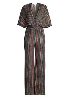 M Missoni Lurex Kimono-Sleeve Jumpsuit
