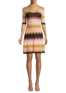 M Missoni Lurex Stripe Dress