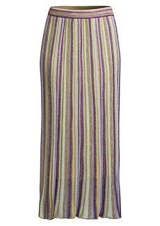 M Missoni Lurex Stripe Knit Midi Skirt