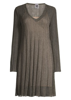 M Missoni Lurex V-Neck Shift Dress