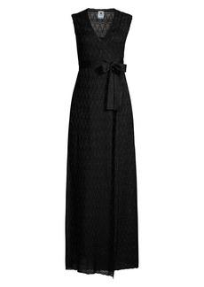 M Missoni Lurex Wrap Gown