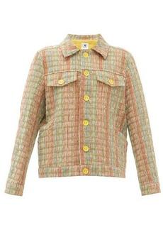 M Missoni Boxy upcycled checked jacquard jacket