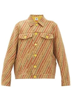 M Missoni Boxy striped upcycled-jacquard jacket