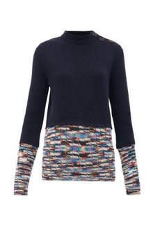 M Missoni Contrast-trim cashmere-blend sweater