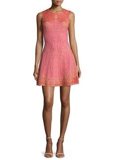 M Missoni Embellished Fit-&-Flare Dress
