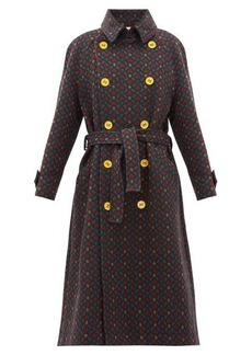M Missoni Geometric-jacquard cotton trench coat