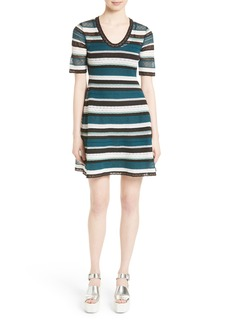 M Missoni Lace Stripe T-Shirt Dress
