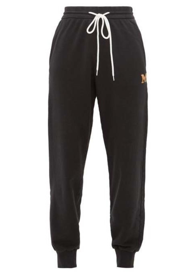 M Missoni Logo-embroidered cotton-jersey track pants