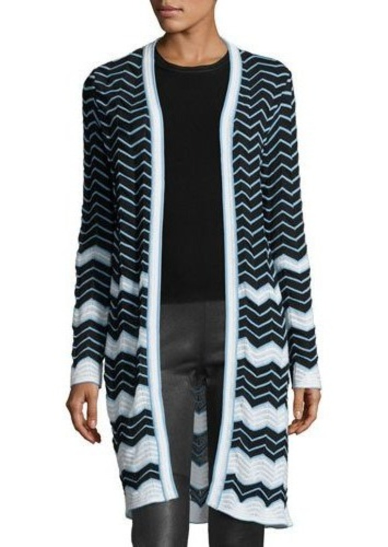M Missoni M Missoni Long Cotton-Blend Zigzag Cardigan | Sweaters ...