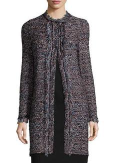 M Missoni Long-Sleeve Crochet Jacket W/Fringe