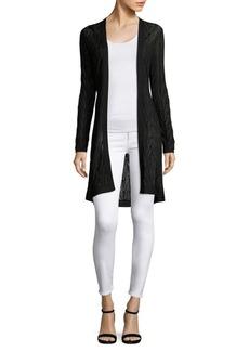 M Missoni Long Wool-Blend Cardigan