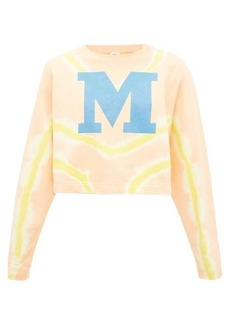 M Missoni M-logo tie-dyed cotton sweater