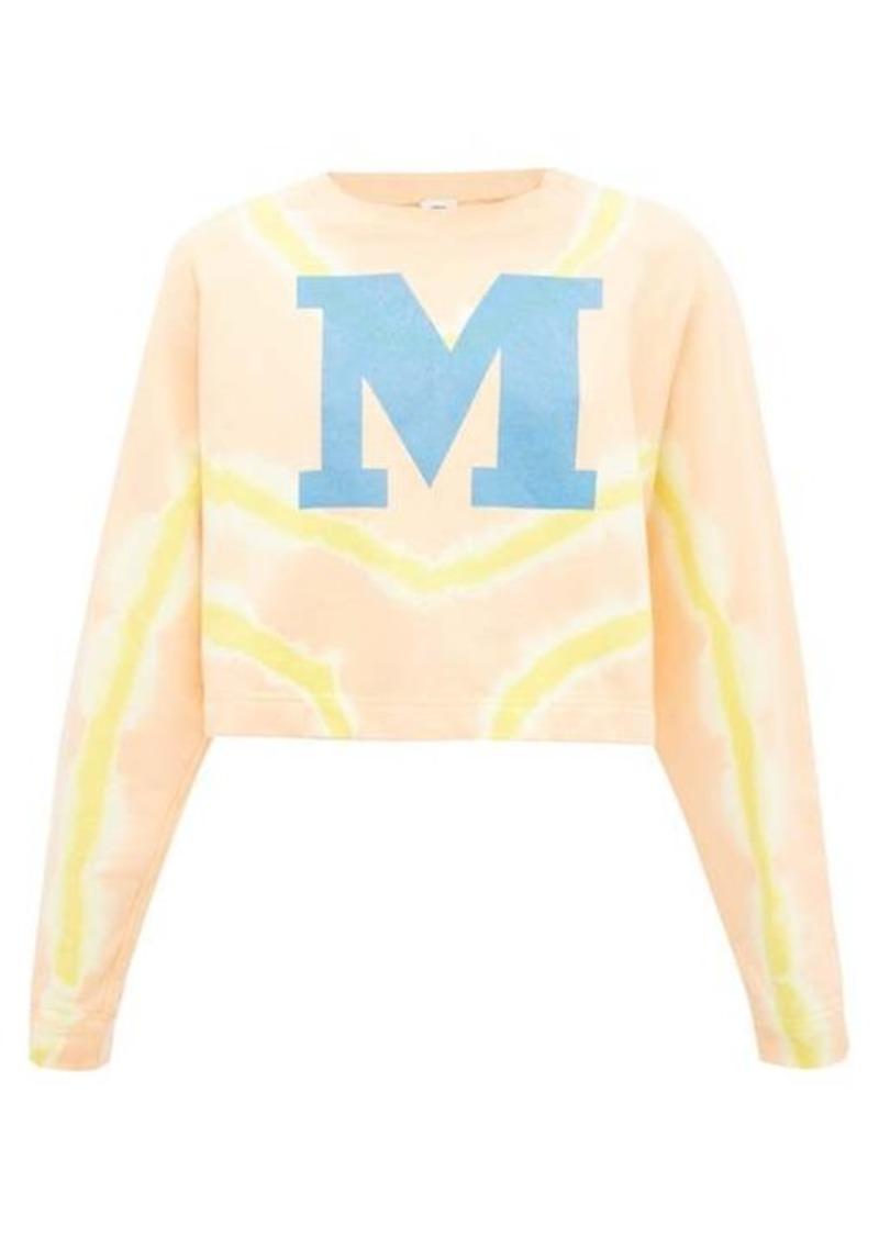 M Missoni M-logo tie-dyed cotton sweater