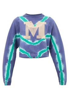 M Missoni M-logo tie-dyed cotton sweatshirt