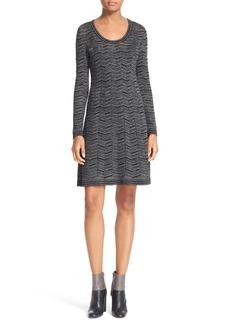 M Missoni Metallic Knit Fit & Flare Dress