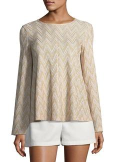 M Missoni Metallic-Knit Jersey Swing Top