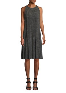 M Missoni Metallic Plisse A-Line Dress