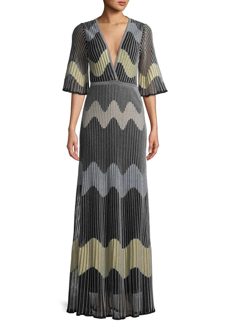 3793e31d6e M Missoni Metallic Wave Intarsia Maxi Dress | Dresses