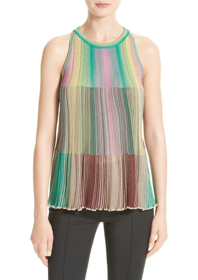 c2aec8842cad37 M Missoni M Missoni Multicolor Plissé Knit Top