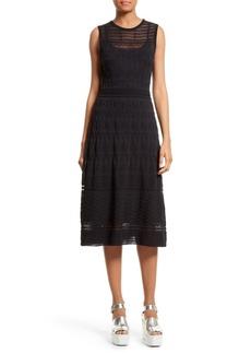M Missoni Rib Stitch Fit & Flare Midi Dress