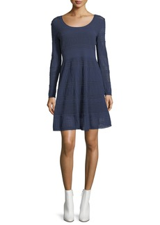 M Missoni Rib-Stitch Long-Sleeve Dress