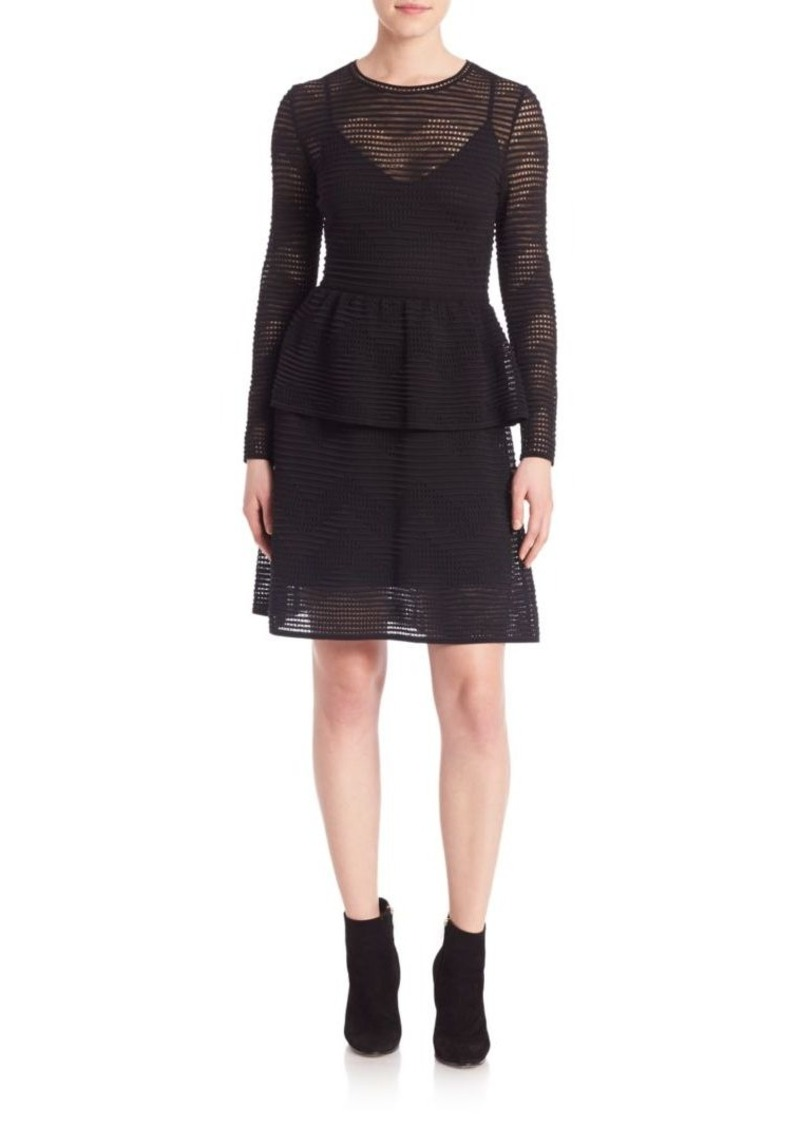 M Missoni Rib Stitched Long Sleeve Dress