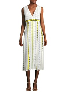 M Missoni Ribbon Wave Stripe Dress